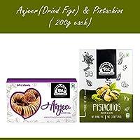 Wonderland Foods Premium Quality Anjeer & Roasted Salted Pistachio 400g (200g Each)