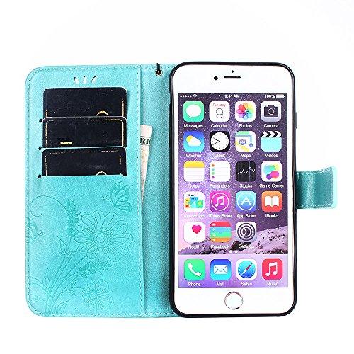 ZeWoo Folio Ledertasche - R163 / Ameisen dating (Rose Red) - für Apple iPhone 6 Plus (5,5 Zoll) PU Leder Tasche Brieftasche Case Cover R162 Plum Blume
