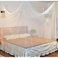 Campito Feinmaschiges Kasten- Moskitonetz- Perfekter Insektenschutz Mückenschutz zu Hause u. auf Reise