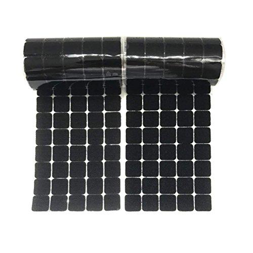 Arlent 2cm quadratisch schwarz Träger 250 Paar Selbst adhestive Haken Schlaufe selbstklebend Streifen mit wasserdicht Sticky Klebstoff Verschluss
