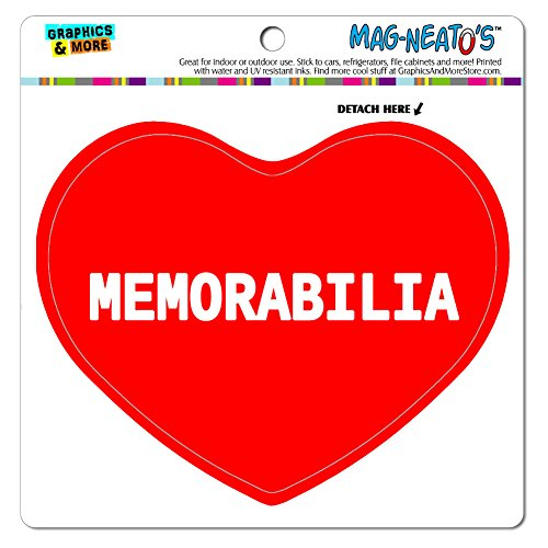 Graphics and More Mag-Neato 's-TM Auto Kühlschrank Vinyl Magnet I love Herz Sport Hobby M, Memorabilia