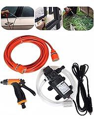 Intelligent 60W Haute Pression auto-amorçante électrique de voiture Portable Lavage Rondelle kit Pompe à eau 12V