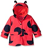 London Fog Baby Girls Enhanced Radiance Ladybug Rain Slicker