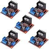 HiLetgo® 5pcs L298N Dual H Bridge DC Stepper Motor Drive Controller Board Motor Drive Module para Arduino