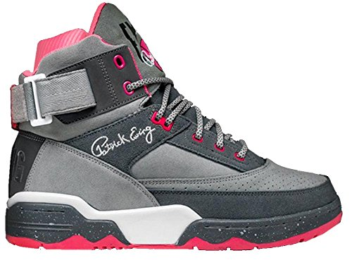 EWING Athletics 33 HI X Staple Grey Pink White Basketball Shoes Limited Edition -