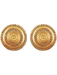 905a365e73 Touchstone Indian Bollywood Artistic Fringes Motif Bridal Designer Jewelry  Earrings In Antique Gold Tone For Women