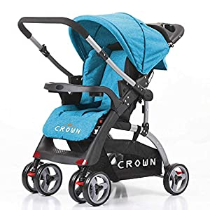 Crown ST530 Buggy Stroller Dual-Way Blue   13