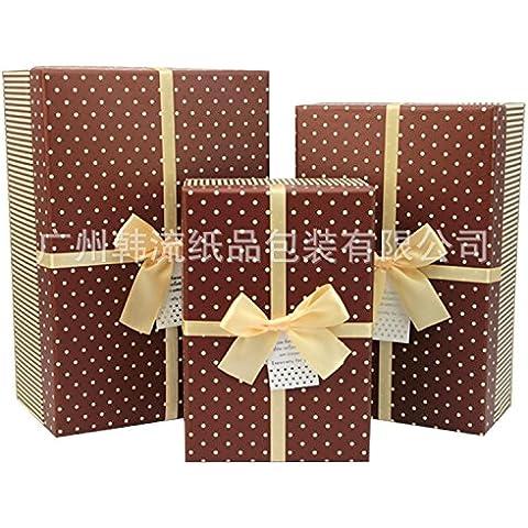 Confezione regalo rettangolo coreano piccola confezione regalo contenuto belle vacanze ,26 * 17,5*10cm,