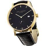Lars Larsen - 131GBLBL - Montre Homme - Quartz Analogique - Bracelet Cuir Noir