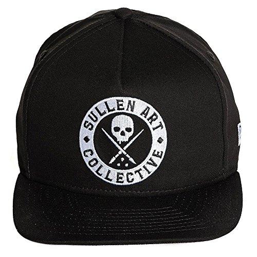 8d099d3ea56c6 Sullen x New Era Staple Snapback Hat Black Black White