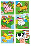 Woodyland 3x 3Farm Tiere Bild Würfel Puzzle