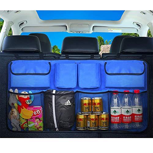 8-fach-lagerung (HXA Kofferraum Lagerung Auto - 8 Multi-Fach Netz Tasche Rücksitz Aufbewahrungstasche - Platzsparende Kofferraumtasche für Werkzeuge, Sport-Artikel, Lebensmittel)