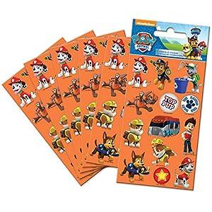Paper Projects-Pack de Pegatinas de la Patrulla Canina de Color Naranja (6 Hojas), (9017083)
