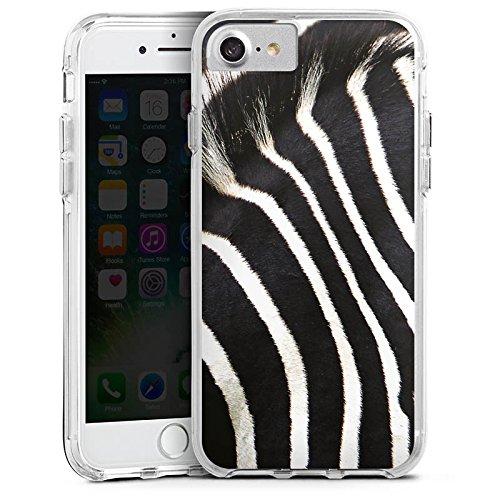Apple iPhone X Bumper Hülle Bumper Case Glitzer Hülle Zebra Dschungel Animal Print Bumper Case transparent