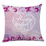 Dtuta Festa della Mamma Federa, Home Decor Cuscino Happy Throw Pillow Covers Divano Letto Quadrato in Morbida Pianura Chiusura Lampo Invisibile sul Soggiorno