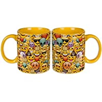 Preisvergleich für EMOJI FAMILIE DUO - 2 X EMOJI MUG's - Perfekt für Tee für zwei, eine helle und Spaß Weise, einen Griff auf Ihre heißen Getränke zu erhalten.
