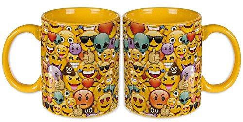 EMOJI FAMILIE DUO - 2 X EMOJI MUG's - Perfekt für Tee für zwei, eine helle und Spaß Weise, einen Griff auf Ihre heißen Getränke zu erhalten.