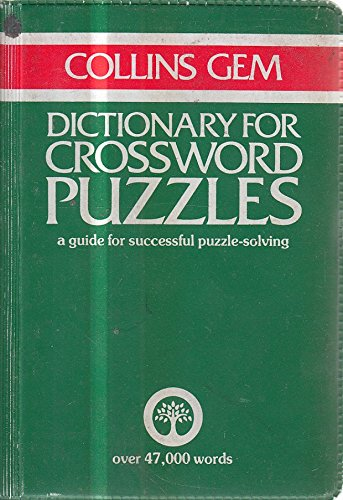 Dictionary for Crossword Puzzles