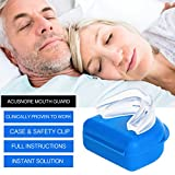 Acusnore Anti Snore Mouth Guard with Blue Protective Case and Safety Clip1 Units