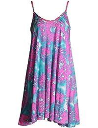 Fast Fashion - Robe Sangle Rose Chèque Du Crâne Bôme Épicée De Print Swing - Femmes