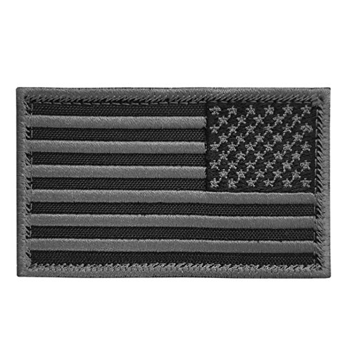 2AFTER1 ACU Black USA American Reversed Flag ISAF Morale Tactical Army Fastener Patch
