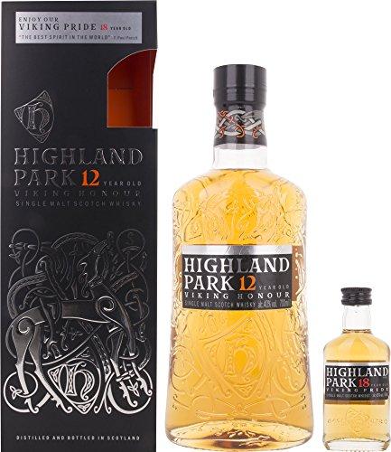 (Highland Park 12 Jahre VIKING HONOUR mit Geschenkverpackung und 18 Years Old Whisky (1 x 0.75 l))