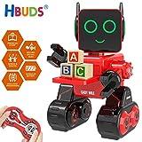 HBUDS Robot di Controllo Remoto RC per Bambini, Giocattolo di Robotica di Controllo del Suono Touch Ricaricabile, Kit di Robot Educativi di Danza del Canto per Le Ragazze dei Ragazzi - Miglior Regalo