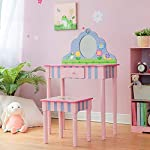 Fantasy Fields By Teamson TD-13245A Vanity Table and Stool, Pink/Multi-Color