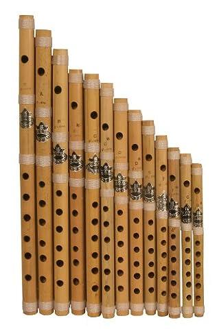DOBANI Bamboo Flute Set, Set of 13 Cross Blown