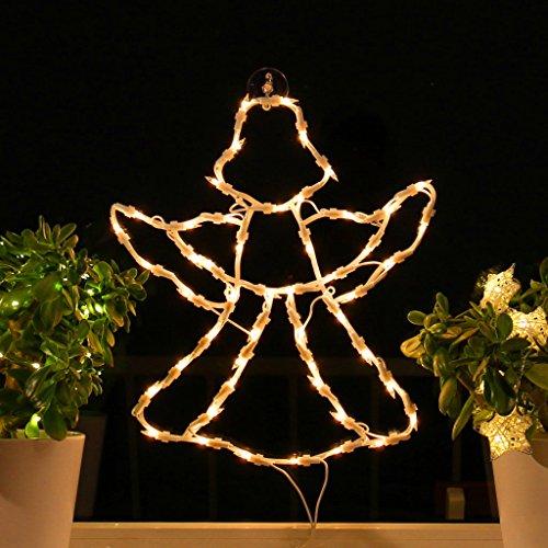 Fenster-Silhouette Weihnachten Weihnachtsdeko Fensterbilder Beleuchtet Weihnachtsbeleuchtung innen Fensterdeko zum aufhängen