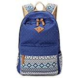 : Cdet 1X Backpack Canvas Unisex Rucksack Bag for Laptop/Notebook/Computer/Book Blue