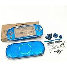Haodasi Ersatz Gehäuse Gehäusedeckel Gehäuseabdeckung Reparatur Teil Gehäuse Hülle Taste Housing Shell Case Cover für Playstation Portable PSP3000 PSP 3000 Blue