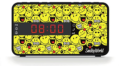 Bigben Interactive RR16SMILEY Horloge Multicolore Radio Portable - Radios Portables (Horloge, FM,...