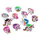 Emorias 10 Pcs Conjunto de Anillos Unicornio Amante Compromiso Regalos Pareja Boda Bisuteria Joyería Amor Accesorios