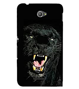 Black panther 3D Hard Polycarbonate Designer Back Case Cover for Sony Xperia E4 Dual
