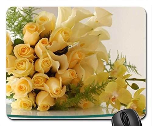 yellow wedding bouquet Mouse Pad, Mousepad (Flowers Mouse Pad)