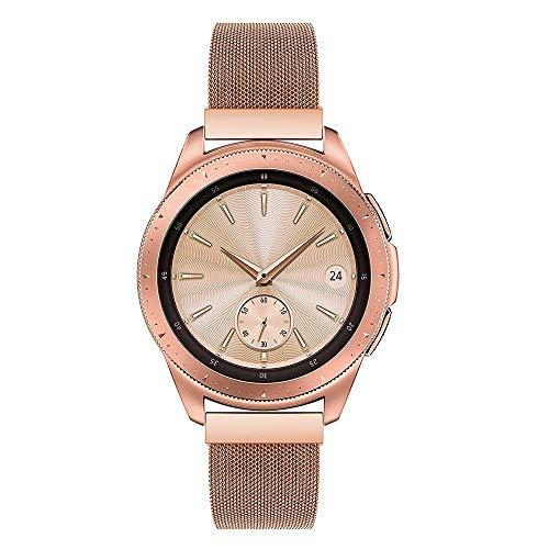 MBrisk Kompatibel für 22mm Uhr Active Strap, 20mm Edelstahl Metall Ersatz Smart Watch Band Armband für Herren Damenuhr (20mm, Roségold)