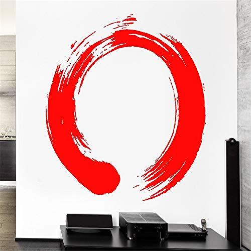 Hohe Qualität Vinyl Aufkleber Kreis Enso Zen Buddhasim Kalligraphie Für Home Art Dekoration Wandbild 42 * 42 cm -