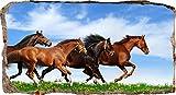 Startonight, 3D Vlies Fototapete, Pferde Laufend, 82 cm x 150 cm, Wandbild Tapete
