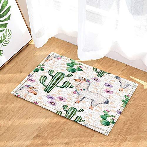 vrupi Ziege und Kaktus Bad teppiche für Bad Rutschfeste bodeneingänge außen innen vordere tür Matte Kinder badematte 15.7x23.6in