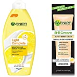Garnier Light Complete Moisturising Serum In Lotion, 125ml and Garnier Skin Naturals Instantly Perfect Skin Perfector BB Cream, 30g