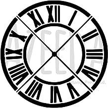A5 Cara del Reloj Número Romano Plantilla de Pared / Estarcir (WS00019108)
