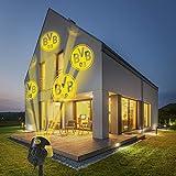 Borussia Dortmund Logo Projektor Fanartikel   LED-Motivstrahler BVB-Logo   Beleuchtung für Borussia Dortmund Supporter (gelb/schwarz)