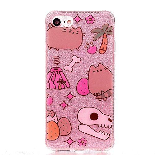 iPhone 8 Hülle, Voguecase Silikon Schutzhülle / Case / Cover / Hülle / TPU Gel Skin für Apple iPhone 8 4.7(Rot Fuchs 02) + Gratis Universal Eingabestift Cartoon 02