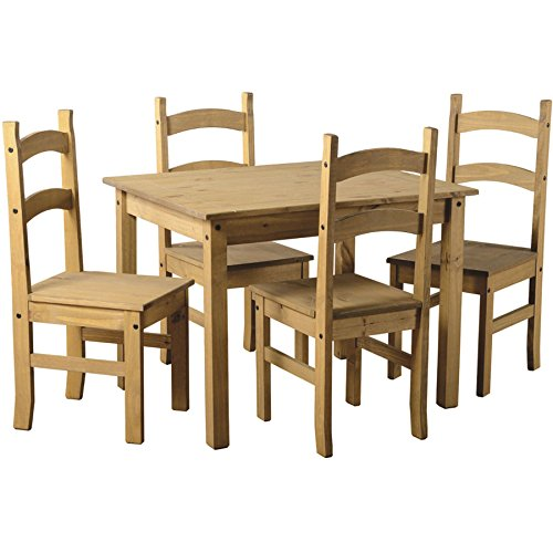 home-discount-corona-budget-dining-set-in-waxed-solid-pine-mexican-4-chairs-table