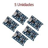 x5 Módulo de Carga Bateria Litio TP4056 TE420 1000mA Cargador Micro USB 4,2V