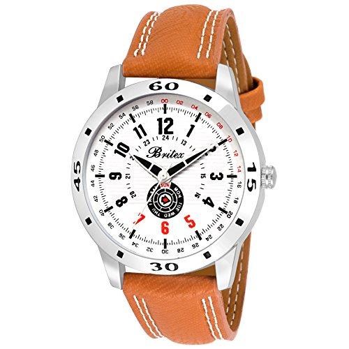 Britex Analogue White Dial Men's & Boy's Watch - Bt6152