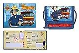Feuerwehrmann Sam Geldbeutel Brustbeutel 13x8x5 + Freundebuch Feuerwehr (183)