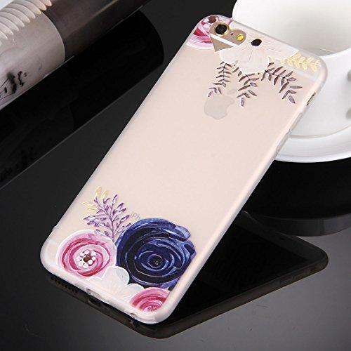 Phone case & Hülle Für iPhone 6 Plus / 6s Plus, Prägung Rosa und Weiß Blumenmuster Soft TPU Schutzhülle ( SKU : Ip6p0476a ) Ip6p0476g
