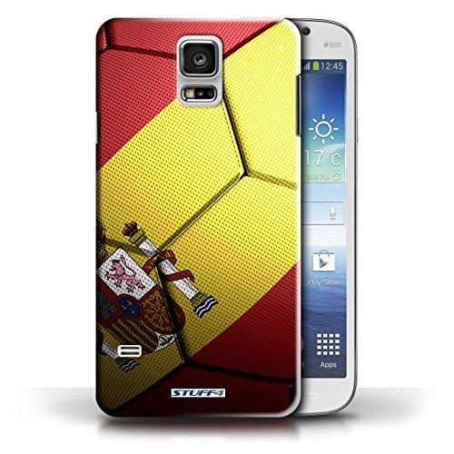 Coque en plastique pour Samsung Galaxy S5/SV Collection Nations de Football - Espagne/Espagnol Espagne/Espagnol
